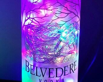 Handmade Multi-Color LED 8-Mode Belvedere Vodka Liquor Bottle Lamp