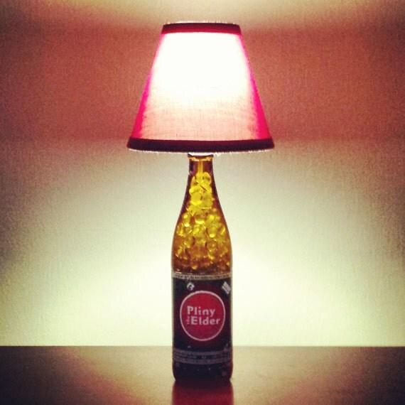 Handmade LED Pliny the Elder Beer Bottle Lamp