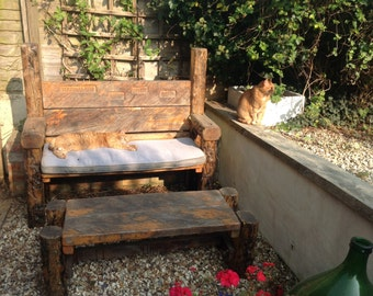 Rustic garden bench - Memorial