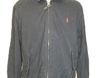 polo ralph lauren cotton jacket navy blue mens size XL