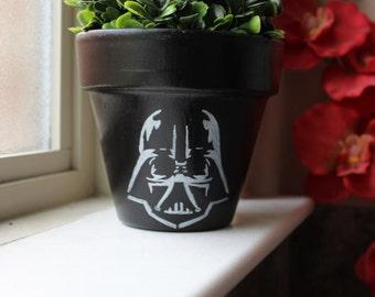 Darth Vader  Terra Cotta Flower Pot