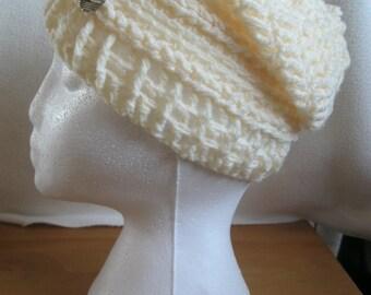 Handmade Slouch Hat. Braided Design.