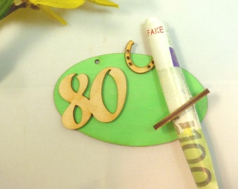 80th birthday Bill holder money gift 80th birthday original packaged, gift idea for banknote DIY