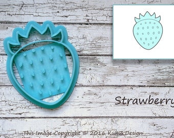 Strawberry cookie cutter / Berries cookie cutter / Jam cookie cutter / Strawberry fondant cutter