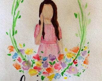 Custom Floral Portrait