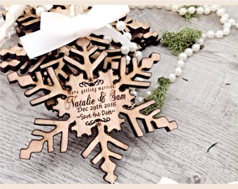 Save the date, Unique save the date invites, wooden save the date invites, snowflake, wedding invitations, Winter wedding