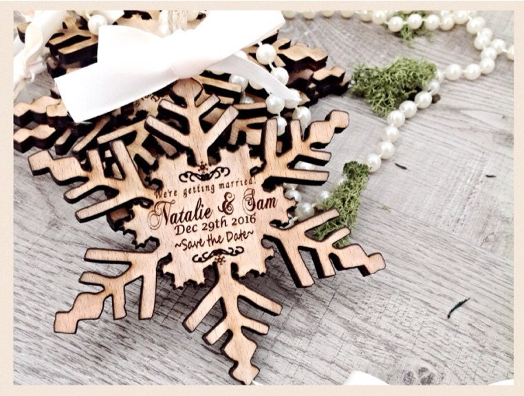 Save the date Unique save the date invites wooden save the date – Winter Wedding Save the Dates