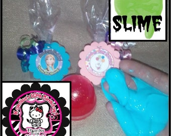 "Personalized Hello Kitty Zebra Surprise ""slime"" Birthday Party Favors - set of 8"
