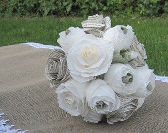bride bouquet, WEDDING PAPER BOUQUET, bridesmaids flowers