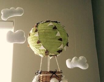 Hot air balloon crib mobile, Baby mobile