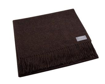 Maloca 100% Baby Alpaca Oversized scarf-Chocolate