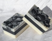 Fifty Shades- Shea Butter Acvitvated Charcoal and Kaolin Clay Glycerin Soap Vegan Handmade in Virginia