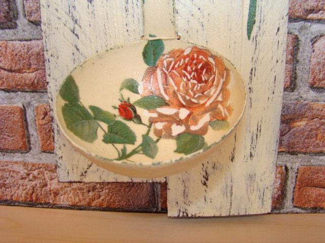 Reclaimed Wood Pallet, Bon Appetit Sign Wall Decor,Rustic Kitchen Decor,  Romantic Roses