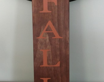 Fall Wood Sign.Fall Sign.Fall Decor.Vertical Sign.Vertical Wood Sign.Fall Decorations.Wood Sign.
