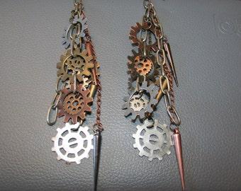 Steam Punk Dangling Earrings