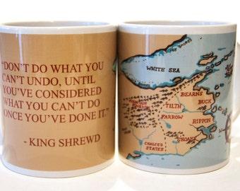 Six Duchies mug inspired by Robin Hobb 6 duchies gift Mother's Day mug Farseer Trilogy Fitz King Shrewd Assassin's Apprentice The Fool