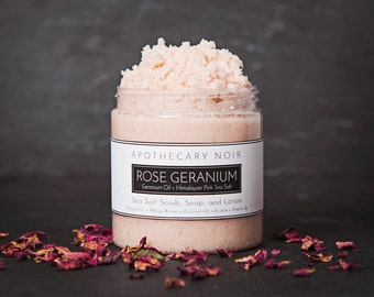 Rose Geranium Sea Salt Scrub