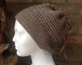 Hand knitted slouchy hat/cowl
