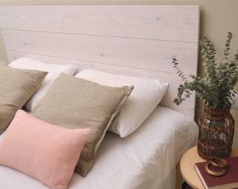 Headboard Bed wood craft white