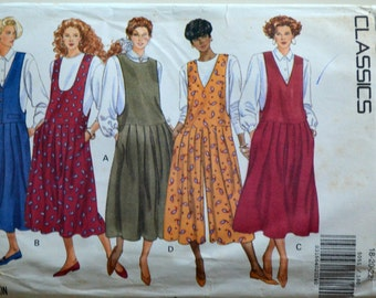 Uncut 1990s Butterick Vintage Sewing Pattern 5051, Size 18-20-22; Misses' Jumper and Jumpsuit