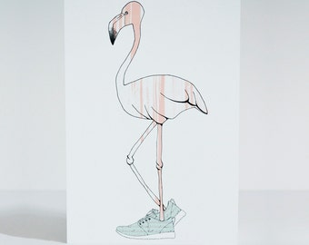 Cool Flamingo - A5 card