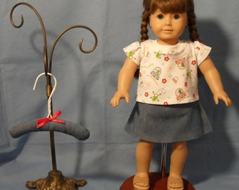 18 Inch American Girl Doll T-Shirt and Short Skirt