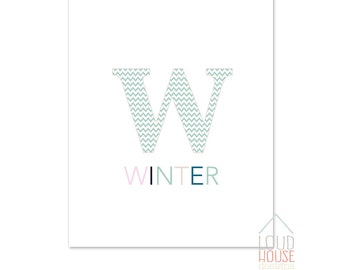 Winter Printable, Wall Art, Winter Sign, Instant Download