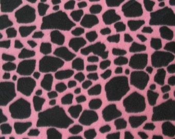 Pink & Black Cow Print