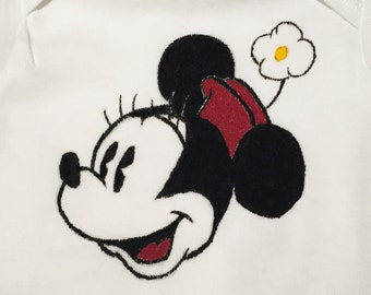Minnie Mouse Hand Painted Gerber Onesie