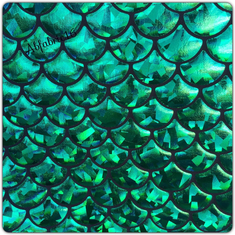 Mermaid Mystic Fish Scale Hologram Strech Spandex Fabric Sold