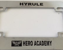 Hyrule Academy - Chrome Motorcycle / Scooter License Plate Frame - Zelda