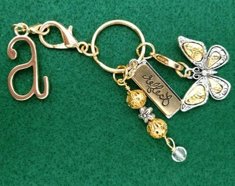 Butterfly Key chain, Purse Charm