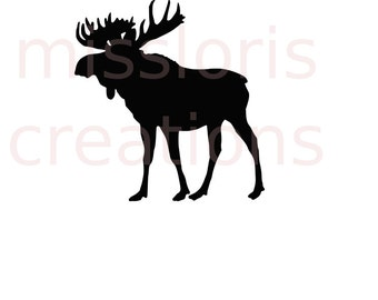 Moose SVG   cut file  t-shirts  animals wild life forestscrapbook vinyl decal wood sign cricut cameo Commercial use