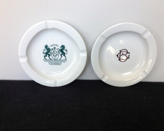 Set of Two Vintage Ashtrays from the Hotel Grande Bretagne Athenes