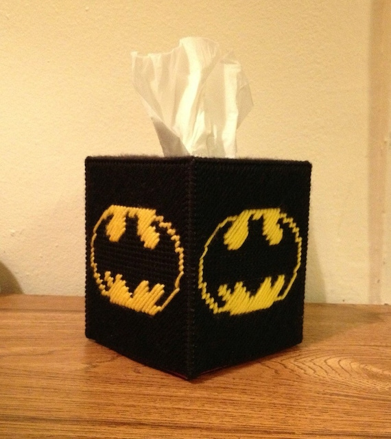 batman tissue box cover by bellyofcookies on etsy. Black Bedroom Furniture Sets. Home Design Ideas