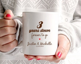 3rd anniversary gift 3rd wedding anniversary 3rd anniversary 3rd years marriage personalised