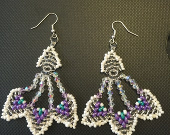 Handmade  super duo earrings