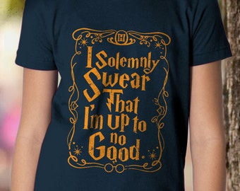 New I Solemnly Swear That I'm Up To No Good Potter Wizard Muggle Youth Kids Shirt and Toddler Shirt Sizes