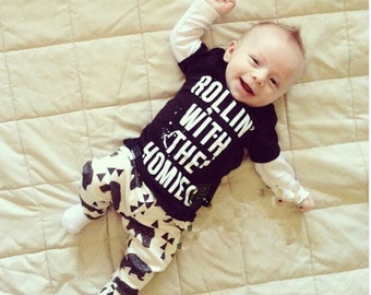 Baby boy clothes long sleeve t shirt & pants