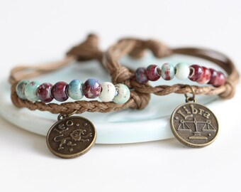 Handmade Ceramic Bracelet - Twelve Constellations