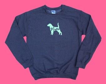 "Beagle ""MAMA"", Crewneck Sweatshirt"