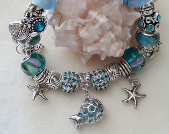 Gift from the ocean bracelet silver plated