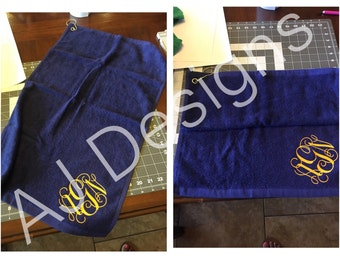 Personalized Grommeted Golf Towel