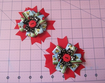 Angry Birds Duo Button Bows
