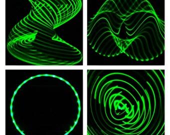 Solid Green  LED Hula Hoop