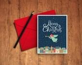 Christmas Printable Card - WebDesignPrints - Merry Christmas - Little Angel