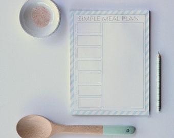 Simple Meal Plan Notepad