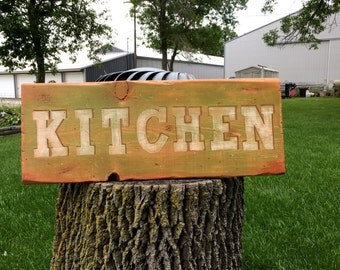Kitchen Wood Sign, Kitchen Decor, 26x10x1, Kitchen Signs,  Granny Smith Green, Hand painted in MN, Vintage, Home Decor, Kitchen Sign!