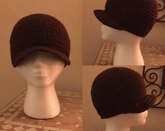 Brown Crochet Cap