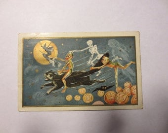 Halloween postcard from 1912.
